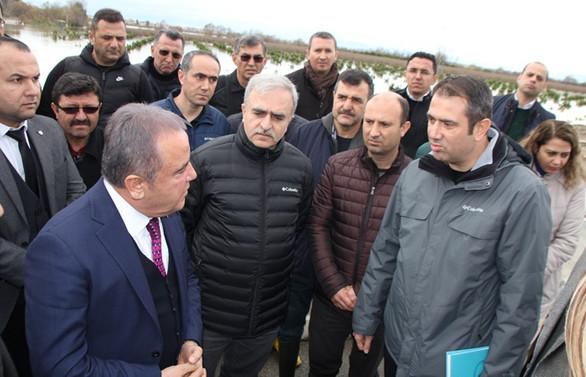 Antalya'da seralarda hasar tespit çalışmalarına başlandı