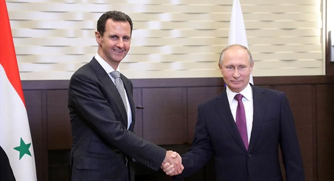 Putin, Suriye'de Esad'la görüştü