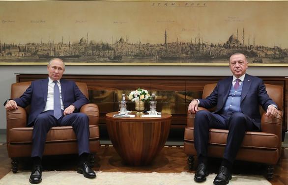 Erdoğan, Rusya Devlet Başkanı Putin ile görüştü
