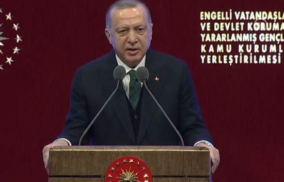 Cumhurbaşkanı Erdoğan: Engelli memur sayısı 56 bin 500'e ulaştı