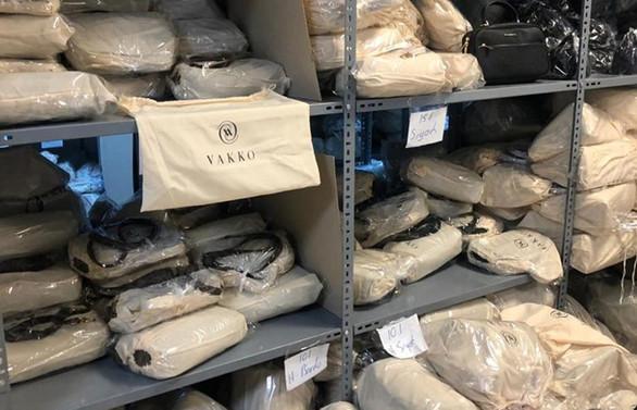 Binlerce Vakko logolu taklit ürün ele geçirildi