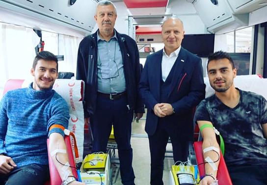 Bursaspor'dan müzede kan bağışı