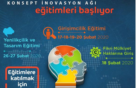 Trabzon'da Konsept İnovasyon Ağı Projesi Eğitimleri başlıyor