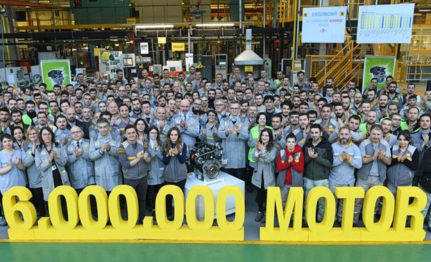 Oyak Renault, motor üretiminde 6 milyona ulaştı