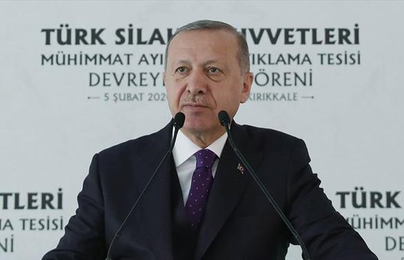 Erdoğan: HİSAR-A Füze Sistemi'ni mümkünse hemen Suriye sınırımıza yerleştireceğiz