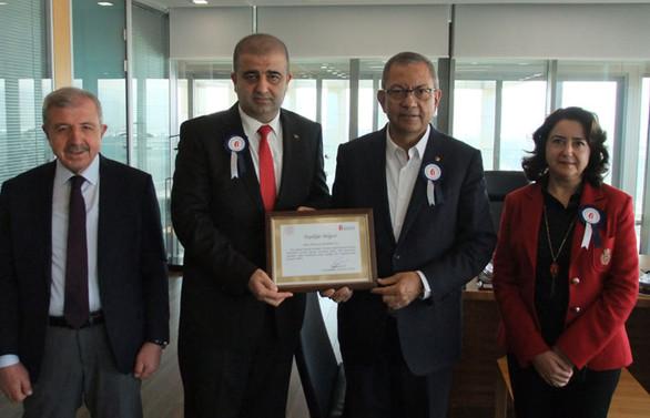 Kahramanmaraş Vergi Dairesi Başkanı Kaya'dan Kipaş Holding'e ziyaret