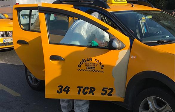 İstanbul taksilerinden koronayla mücadeleye tam destek