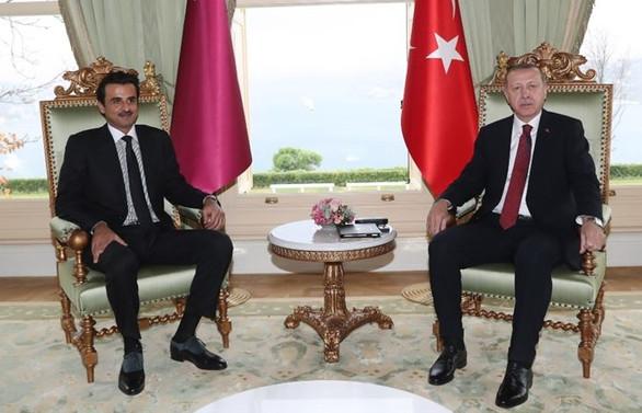 Cumhurbaşkanı Erdoğan, Katar Emiri es-Sani ile görüştü