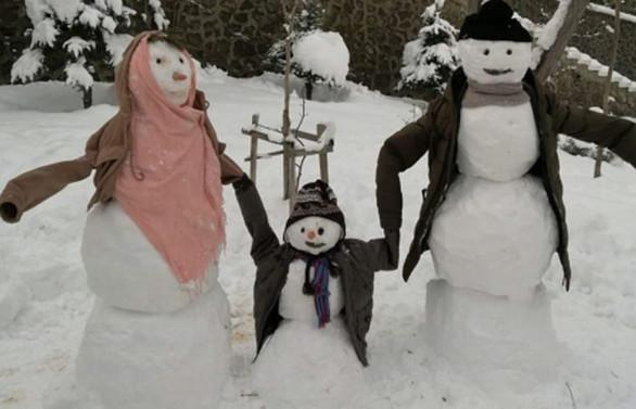 Yomra Belediyesinden 'Kardan Adam Yarışması'