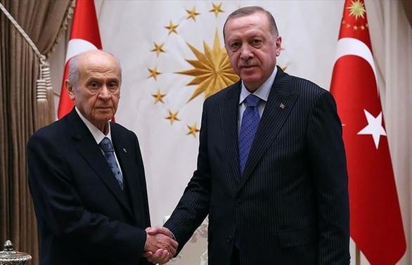 Cumhurbaşkanı Erdoğan ile MHP Genel Başkanı Bahçeli telefonda görüştü