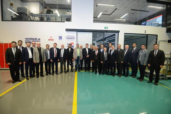 BOSBİR üyeleri Bursa Model Fabrika'yı ziyaret etti
