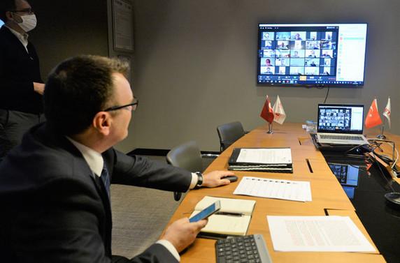 BTSO, Meclis Toplantısı'nı video konferansla gerçekleştirdi