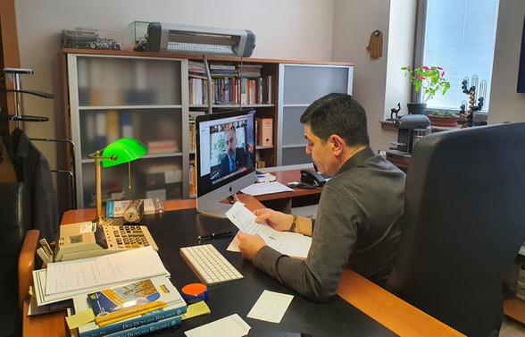 Başkan Aktaş, video konferans ile sanayicilerle buluştu