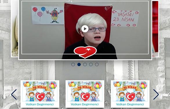 'Günışığı çocukları'ndan 23 Nisan'a özel dijital kutlama