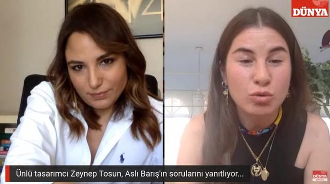 Moda tasarımcısı Zeynep Tosun Aslı'nın Konukları'nda
