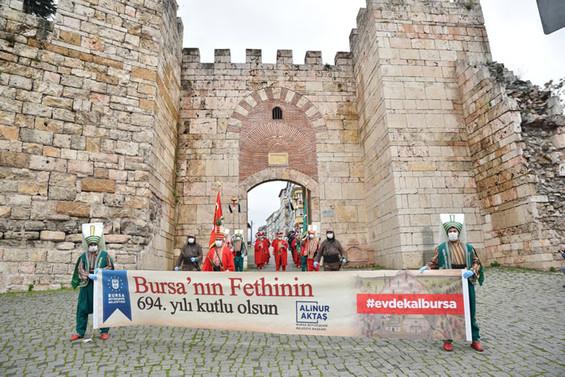 Bursa'nın fethinin 694'üncü yıldönümü kutlandı