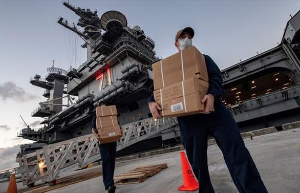 ABD'nin Roosevelt uçak gemisinde COVID-19 vaka sayısı 1155'e çıktı
