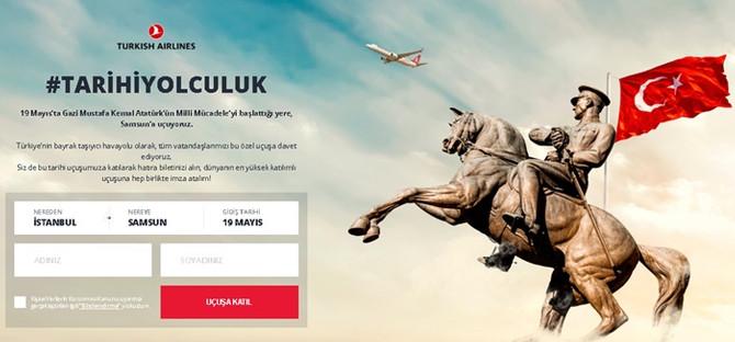 THY'nin 9 milyon sembolik yolculu 19 Mayıs özel uçuşu tamamlandı