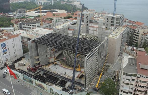 Yeni AKM'nin kaba inşaatı tamamlanmak üzere