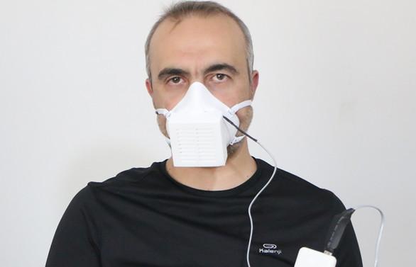 Aksaray Üniversitesi'nde virüsleri yok eden elektronik maske üretildi