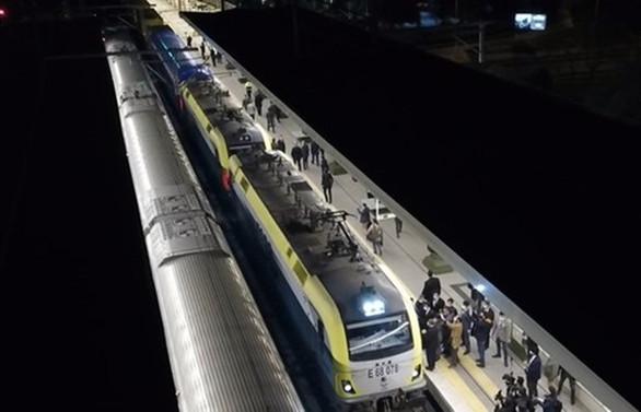 Marmaray'dan ilk yurt içi yük treni geçti