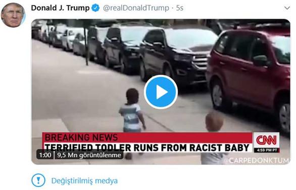 Twitter'dan Trump'ın paylaşımına manipüle edilmiş medya etiketi