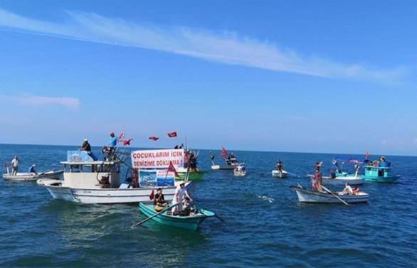 Ardeşen'de deniz kafes projesine protesto
