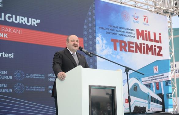 Varank: Milli elektrikli trenimizin bugün itibarıyla fabrika testlerine başlanıyor