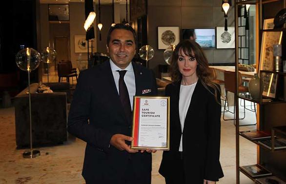 Fairmont Quasar Istanbul 'Güvenli Turizm Sertifikası' aldı