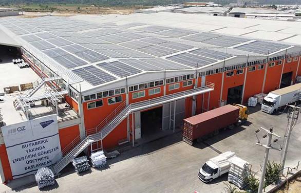Gamateks, güneş enerjisi santralini tamamladı