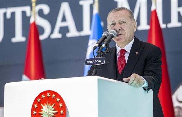 Erdoğan: Türkiye Akdeniz'de de Ege'de de Karadeniz'de de hakkı olanı alacak