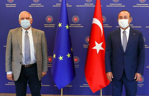 Bakan Çavuşoğlu, Borrell ile Doğu Akdeniz'i görüştü