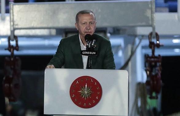 Cumhurbaşkanı Erdoğan: Akdeniz ve Ege'de haydutluğa asla 'eyvallah' etmeyiz