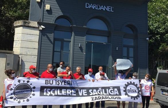 DİSK'ten Dardanel fabrikasındaki çalışma sistemine tepki