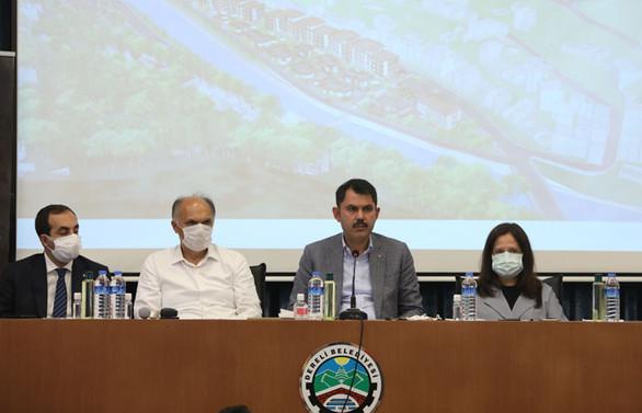 Bakanı Kurum, Yeni Dereli Projesini tanıttı