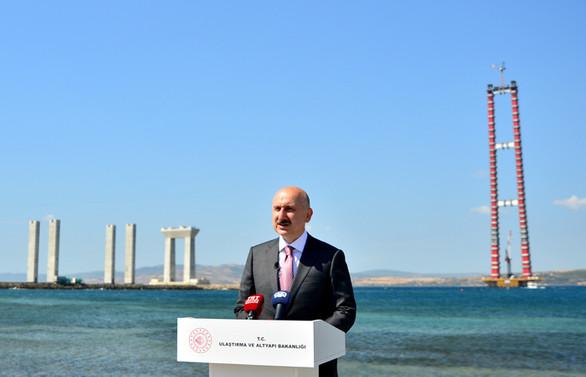 Bakan Karaismailoğlu, 1915 Çanakkale Köprüsü inşaatını inceledi