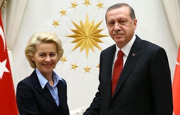 Cumhurbaşkanı Erdoğan, AB Komisyonu Başkanı Von der Leyen ile görüştü