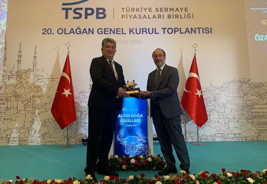 Özak GYO'ya Yatırım Artış Lideri ödülü