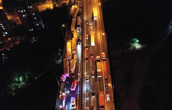 Kocaeli'de zincirleme kaza: 28 araç birbirine girdi