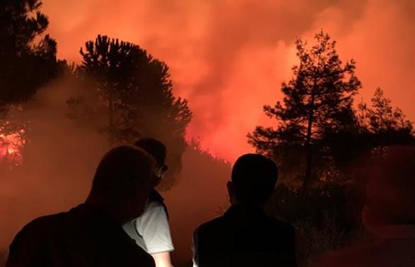 Hatay'daki orman yangınına havadan müdahale yeniden başladı