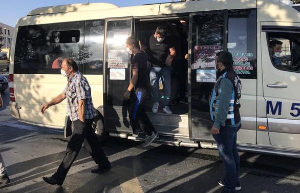 İstanbul'da minibüsler denetleniyor