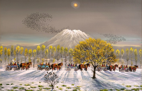 Ressam Yalçın Gökçebağ, retrospektif sergisi ile İş Sanat Ankara Sanat Galerisi'nde sanatseverlerle buluşuyor.