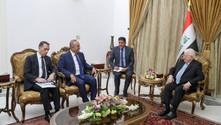 Çavuşoğlu, Irak cumhurbaşkanı ile görüştü