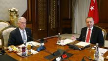 Erdoğan, ABD savunma bakanı ile bir araya geldi