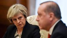 Erdoğan, May ile bir araya geldi