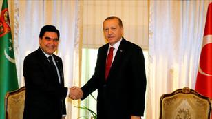 Erdoğan, Berdimuhamedov ile görüştü