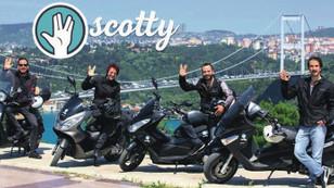 Scotty, paylaşım rekabetine motosikletle dahil oldu