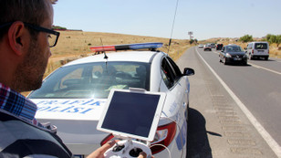 Gaziantep'te hatalı sollamaya dronelu tespit