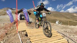 Uluslararası dağ bisikleti kupası Erciyes'te yapıldı