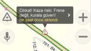 Sürücülere Yandex üzerinden uyarı